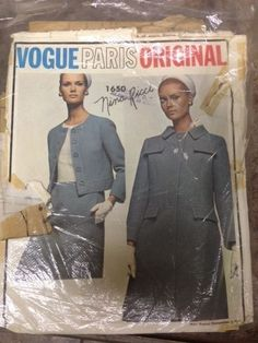 Vogue Paris Original Sewing Pattern, Nina Ricci, 1650, Size 12
