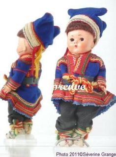 Sweden-  Lapp doll - Sami Doll -The Sami live in Norway, Sweden, Finland in nomadic way