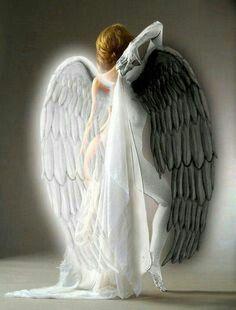 Half in half | my pics | Angel, devil, Angel art, Angels, demons