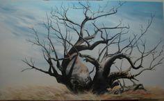 'Elder of Antiquity'  Boab tree from Kununurra WA. Painting by Kimberley Artist Jeanne Barnes