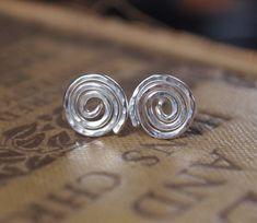 sterling silver stud earrings studs silver studs by ARCJewellery