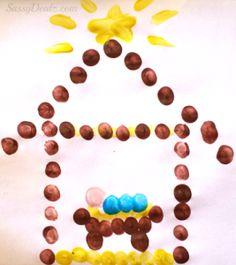 Baby Jesus in a Manger Fingerprint Craft For Kids at Christmas 30 Christ-Centered Christmas Activities and Crafts for Kids Christian Christmas Crafts, Christmas Art Projects, Christmas Crafts For Kids, Holiday Crafts, Christmas Christmas, Christmas Nativity, Simple Christmas, Christian Crafts, Christmas Craft Religious