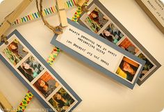 graduation party photo bookmark favors