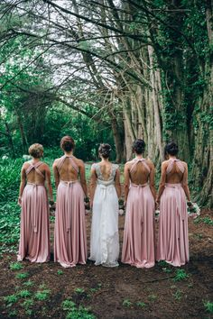 Multiway Bridesmaids Dresses in colour Dust Me Pink by @goddessbynature. Love these dresses and every single way you can tie them! See more here: https://shop.goddessbynature.com/collections/signature-multiway/products/dust-me-pink-signature-dress