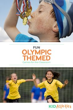 A collection of 10 fun Olympic game ideas for kids. Great for an Olympic theme day at school and getting kids into the Olympic spirit. Fitness Games For Kids, Olympic Games For Kids, Olympic Idea, Olympic Flag, Gym Games For Kids, Olympic Gymnastics, Indoor Activities For Kids, Exercise For Kids, Kid Activities