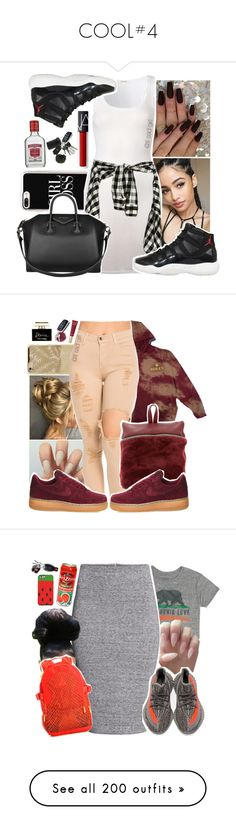 """""""COOL#4"""" by lkpop ❤ liked on Polyvore featuring Casetify, American Vintage, NIKE, Givenchy, Kara, Too Faced Cosmetics, Dolce&Gabbana, Billabong, H&M and adidas"""