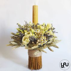 Flower Diy, Diy Flowers, Ader, Christening, Floral Design, Candle Holders, Baby Boy, Concept, Candles