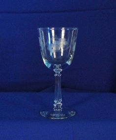 Libbey Rock Sharpe USA 3002-7 Stem Water Goblet zmd0041 #LibbeyRockSharpeGlass