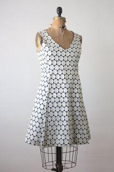 60's mod dress  silver galaxy dress by Thrush on Etsy, $65.00