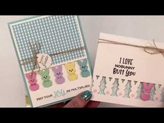 How to: Easter Card with Squishy Hugs and MISTI - YouTube