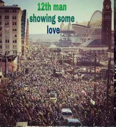 This is absolutely beautiful! Seattle's Superbowl parade/party