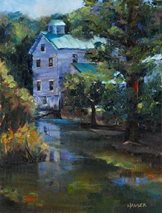 Summer Morning at Wilson Feed Mill by Alice Hauser Oil ~ 16 x 12