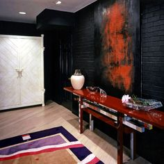 charcoal painted brick