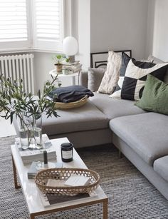 How to update your home this summer without buying anything new. Cosy, Scandinavian-Style living room