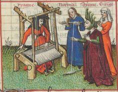 « Le Champion des Dames, » par « MARTIN LE FRANC, prevost de l'église de Lausane. » (1440).  Date d'édition :  1401-1500  Français 12476  Folio 104v