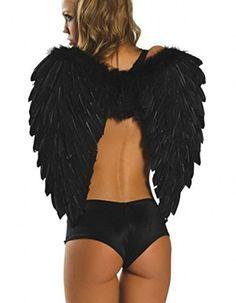 Y-BOA 1 Paire d'Ailes Déguisement Halloween Plume Ange Femme Fille 65cm (Noir) Y-BOA http://www.amazon.fr/dp/B015NT79OW/ref=cm_sw_r_pi_dp_hmNgwb0K24PJB
