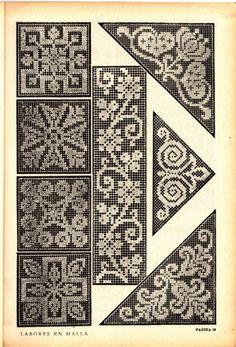 Crochet Snowflake Pattern, Modern Crochet Patterns, Needlepoint Patterns, Crochet Motif, Crochet Doilies, Vintage Patterns, Thread Crochet, Cross Stitch Patterns, Filet Crochet Charts