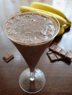Chocolate Banana Thickie - thick, smooth and packed with nutrients.