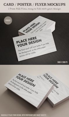 Free Card / Flyer mock-ups - Psd files in high res by Giallo86.deviantart.com
