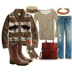cozy winter style -  I really want that sweater!