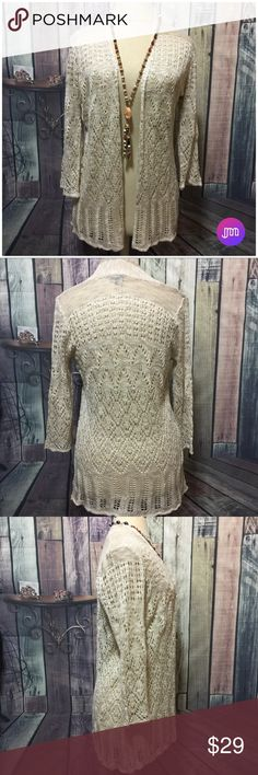 Crochet | Open Weave Cardigan You're Sure To Turn Heads With This Cardigan  ⚜️ Gorgeous Crochet Design ⚜️ Three Quarter Sleeve Length ⚜️ Open Weave Crochet Design ⚜️ Light for Cool Evenings & Mornings Sweaters Cardigans
