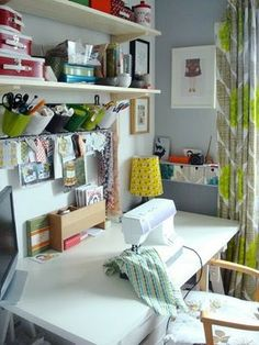 {Office Inspiration – Tree Fall Design Studio - Manda McGrory's sewing area} – Bright.Bazaar
