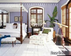 elle decor and robin bell | The Glam Pad: 40 Fabulous Purple Bedrooms