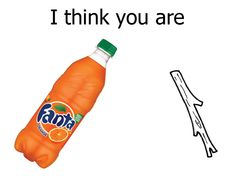 Are you trying to say I'm orange soda and a branch? Wow rude