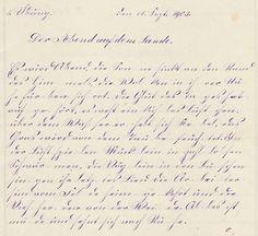 Schrift aus dem Jahr 1903