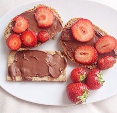 Mmmm Nutella strawberry toast