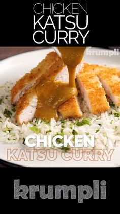 A Chicken Katsu curry is considered to be a national dish in.- A Chicken Katsu curry is considered to be a national dish in Japan, it features a crisp fried chicken cutlet and a wonderful curry sauce. Indian Food Recipes, Asian Recipes, Healthy Recipes, Indian Chicken Recipes, Chicken Katsu Curry, Chicken Cutlet Curry Recipe, Chicken Katsu Sauce, Resep Chicken Katsu, Katsu Sauce Recipe