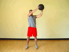Today's Exercise: Advanced Wood Chop with Medicine Ball