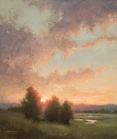 Jane Hunt, Through the Trees, oil, 16 x - Southwest Art Magazine Muse Kunst, Hunting Painting, Nocturne, Painting Competition, Muse Art, Landscape Artwork, Southwest Art, Oeuvre D'art, Painting Inspiration