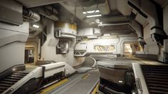 Halo Guardians – Warzone Homebase Interior, Mark Nicolino on ArtStation at ww… Spaceship Interior, Futuristic Interior, Futuristic Art, Environment Concept Art, Environment Design, Science Fiction, Diy Table Top, Halo 5, Sci Fi Ships