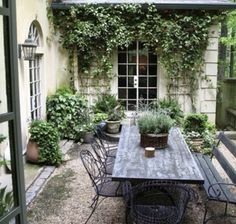 50 Small Urban Garden Design Ideas And Pictures Shelterness Outdoor Rooms, Outdoor Dining, Patio Dining, Patio Table, Dining Table, Table Bench, Dining Set, Small Gardens, Outdoor Gardens