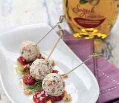 Kuru domatesli, cevizli peynir topları » Soğuk Başlangıçlar » Enfes Lezzetler » Komili Hakiki Lezzet Atölyesi