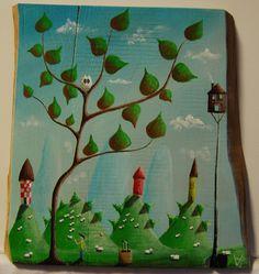 """""""me 05"""" Paweł Widera original paintings, acrylic on wood"""