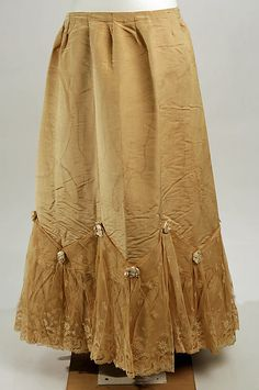 Petticoat Date: late 19th century Culture: probably French Medium: silk Dimensions: Length: 47 in. (119.4 cm) Credit Line: Gift of Susan Dwight Bliss, 1937 Accession Number: 37.144.31