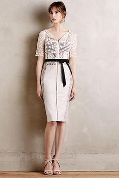 Carissima Etuikleid in Elfenbein - anthropologie.com Chic Outfits, Dress  Outfits, Dress Up 5a5657ddad48