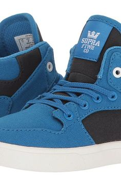 Supra Kids Vaider (Toddler) (Blue/Black/White) Boy's Shoes - Supra Kids, Vaider (Toddler), 28208-041-M, Footwear Closed General, Closed Footwear, Closed Footwear, Footwear, Shoes, Gift - Outfit Ideas And Street Style 2017