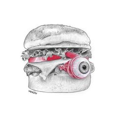 burger eye  #drawing #illustration #sketch #art #burger #eye