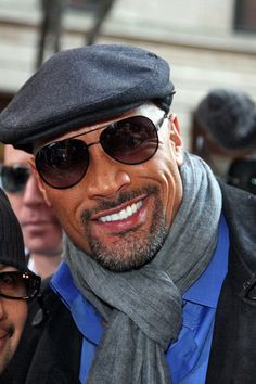 Dwayne Johnson aka The Rock...Do I pin this in people i admire, or my style! lol