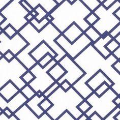 Dear Stella House Designer - Lanikai - Gridlock in White and Navy