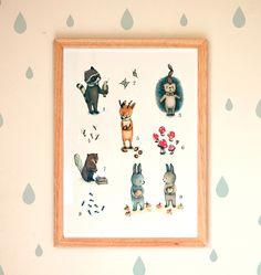 Impressions manuelles, Letter Poster ABC & Zahlen 32x 41 cm est une création orginale de PaolaZakimi sur DaWanda