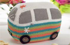 PDF Knitting Pattern for Flowerpower VW Camper Van Toy or Doorstop Knitting Patterns Free, Knit Patterns, Free Knitting, Free Pattern, Doorstop Pattern Free, Vintage Patterns, Crochet Amigurumi, Knit Or Crochet, Crochet Toys