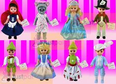 2010 McDonalds Madame Alexander Complete Sets of 8 Storybook Dolls ; Contains Alice in Wonderland , Mad Hatter , Cinderella , Prince Charming , Gretel , Hansel , Little Red Riding Hood , Wendy As the Big Bad Wolf McDonalds Happy Meal Toys http://www.amazon.com/dp/B0040MGVJI/ref=cm_sw_r_pi_dp_PuVhvb1SSYKHM