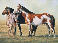 Image detail for -... horse, Indian, Native, Native American, painting, plains, ponies, pony