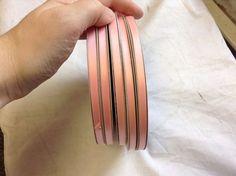 "150 Yards Lot 1//4/"" Vintage Velvet Ribbon Fabric 5 Color Made in France"