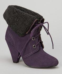 Purple Zack Ankle Bootie by Gwyneth Shoes