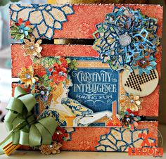 Pam Bray Designs: A Girl with Flair 2017 Design, Album Book, World's Fair, Graphic 45, Scrapbook Paper Crafts, Mini Books, Pattern Paper, Craft Fairs, Wood Pallets